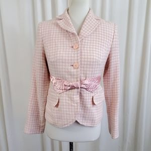Apostrophe Pink & White Patterned Blazer